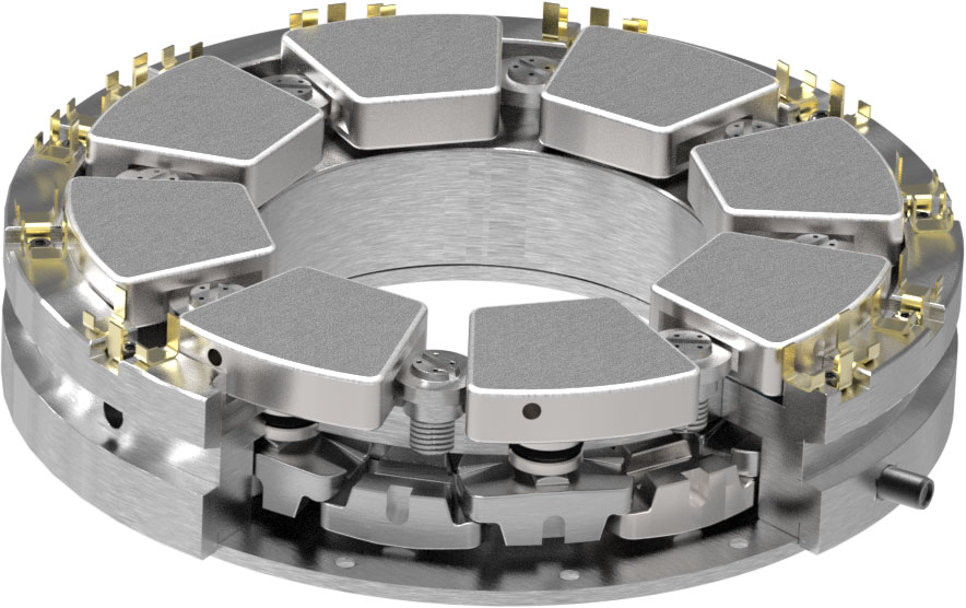 Self-equalizing thrust bearings